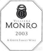 维利纳门罗干红葡萄酒(Villiera Monro,Stellenbosch,South Africa)