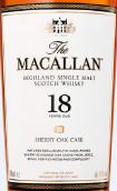 麦卡伦18年雪莉桶陈苏格兰单一麦芽威士忌(The Macallan 18 Years Old Sherry Oak Cask Single Malt Scotch...)