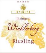 施蒂格勒依瑞恩温克乐堡雷司令迟摘干白葡萄酒(Weingut Stigler Ihringen Winklerberg Riesling Spatlese trocken, Baden, Germany)