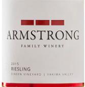 阿姆斯特朗酒庄雷司令干白葡萄酒(Armstrong Family Winery Riesling,Yakima Valley,USA)