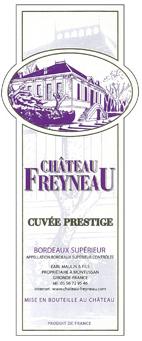 菲诺酒庄特酿威望干红葡萄酒(Chateau Freyneau Cuvee Prestige,Entre-Deux-Mers,France)