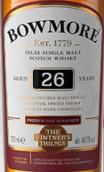 波摩年份三部曲法国橡木桶陈酿26年苏格兰单一麦芽威士忌(Bowmore The Vintage's Trilogy French Oak Barrique Aged 26 ...)