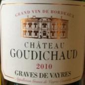 歌迪酒庄干红葡萄酒(Chateau Goudichaud,Graves de Vayres,France)