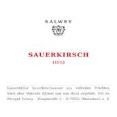 萨尔维酒庄经典酸樱桃白兰地(Weingut Salwey Sauerkirsch Klassisches Sauerkirschwasser,...)