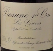 勒桦格雷夫园干红葡萄酒(Domaine Leroy Greves,Beaune,France)
