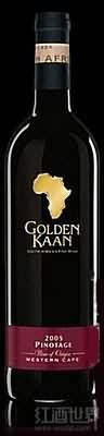 KWV金色卡恩皮诺塔吉干红葡萄酒(KWV Golden Kaan Pinotage,Western Cape,South Africa)