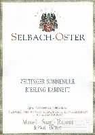 泽巴赫塞尔廷日晷园雷司令小房酒(Selbach-Oster Zeltinger Sonnenuhr Riesling Kabinett,Mosel,...)