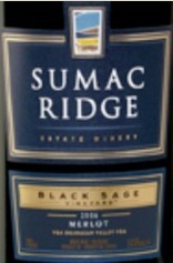 苏马克里奇珍藏梅洛干红葡萄酒(Sumac Ridge Estate Private Reserve Merlot,Okanagan Valley,...)