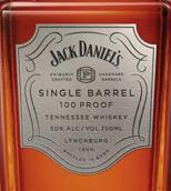 杰克丹尼单桶100美制酒度田纳西威士忌(Jack Daniel's Single Barrel 100 Proof Tennessee Whiskey, Tennessee, USA)