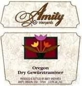 阿米蒂琼瑶浆干白葡萄酒(Amity Vineyards Dry Gewurztraminer,Willamette Valley,USA)