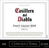 干露红魔鬼珍藏灰皮诺干白葡萄酒(Concha y Toro Casillero del Diablo Reserva Pinot Grigio,...)
