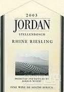 乔丹雷司令干白葡萄酒(Jordan Riesling,Stellenbosch,South Africa)