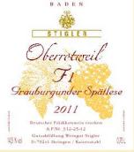 施蒂格勒红色1号桶灰皮诺迟摘干白葡萄酒(Weingut Stigler Oberrotweil F1 Grauburgunder Spatlese trocken, Baden, Germany)