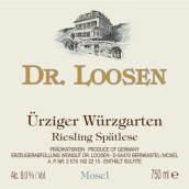 露森酒庄乌兹格园雷司令迟摘白葡萄酒(Dr. Loosen Urziger Wurzgarten Spatlese Riesling, Mosel, Germany)