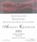 August Kesseler Rudesheimer Berg Schlossberg Spatburgunder ...