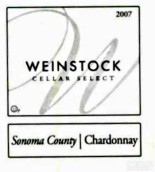 温斯托克酒庄精选霞多丽干白葡萄酒(Weinstock Cellar Select Chardonnay,Sonoma County,USA)