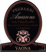 瓦欧纳佩格兰迪干红葡萄酒(Vaona Pegrandi, Amarone della Valpolicella Classico DOCG, Italy)