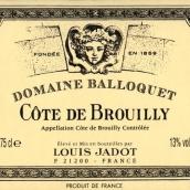 路易亚都巴洛克布鲁依丘红葡萄酒(Louis Jadot Domaine Balloquet Cote de Brouilly,Beaujolais,...)