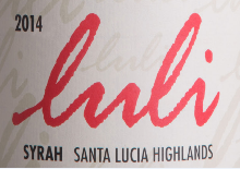 卢利酒庄西拉干红葡萄酒(Luli Syrah, Santa Lucia Highlands, USA)
