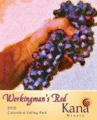卡纳酒庄劳动者干红葡萄酒(Kana Winery Workingman's Red, Columbia Valley, USA)
