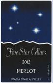 五星酒庄梅洛干红葡萄酒(Five Star Cellars Merlot, Walla Walla Valley, USA)