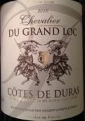 大洛克骑士酒庄干红葡萄酒(Chevalier du Grand Loc,Cotes de Duras,France)