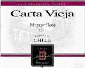 卡塔维嘉梅洛桃红葡萄酒(Carta Vieja Merlot Rose, Loncomilla Valley, Chile)