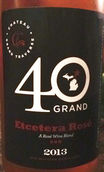 穿越酒庄附加桃红葡萄酒(Chateau Grand Traverse 40 Grand Etcetera Rose, Old Mission Peninsula, USA)