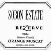 颂博珍藏麝香甜白葡萄酒(Sobon Estate Rezerve Orange Muscat,Amador County,USA)