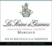 美人鱼城堡副牌(小美人鱼)红葡萄酒(La Sirene de Giscours, Margaux, France)