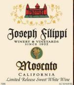 约瑟夫·菲力比酒庄莫斯卡托干白葡萄酒(Joseph Filippi Winery&Vineyards Moscato,California,USA)