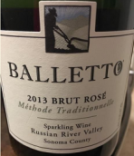 巴乐图酒庄极干型桃红起泡酒(Balletto Vineyards Brut Rose Sparkling,Russian River Valley,...)