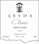 莱达经典黑皮诺干白葡萄酒(Vina Leyda Classic Pinot Noir,Leyda Valley,Chile)