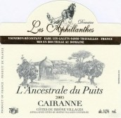 莱斯阿菲兰塞斯酒庄兰瑟斯特勒普伊特斯园凯林干红葡萄酒(Domaine Les Aphillanthes L'Ancestrale du Puits Cairanne, Cotes du Rhone Villages, France)