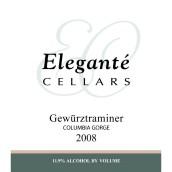 雅尚酒庄琼瑶浆干白葡萄酒(Elegante Cellars Gewurztraminer,Columbia Gorge,USA)