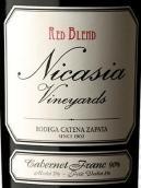 卡氏家族尼卡西亚品丽珠混酿干红葡萄酒(Bodega Catena Zapata Nicasia Vineyards Red Blend Cabernet Franc, Mendoza, Argentina)
