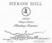 鹭山雷司令冰白葡萄酒(Heron Hill Icewine Riesling,Finger Lakes,USA)