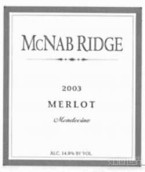 McNab Ridge Merlot,Mendocino,USA