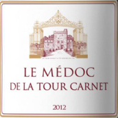 拉图嘉利城堡梅多克干红葡萄酒(Le Medoc De La Tour Carnet , Medoc, France)