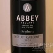 修道院结业梅洛-赤霞珠干红葡萄酒(Abbey Cellars Graduate Merlot - Cabernet, Hawke's Bay, New Zealand)