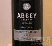 修道院结业梅洛-赤霞珠干红葡萄酒(Abbey Cellars Graduate Merlot - Cabernet, Hawke's Bay, New Zealand)