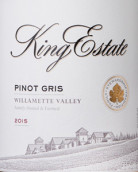 金氏酒庄灰皮诺白葡萄酒(King Estate Pinot Gris,Willamette Valley,USA)