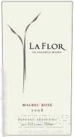 普兰塔酒庄怒放之花马尔贝克桃红葡萄酒(Pulenta Estate La Flor Malbec Rose,Agrelo,Argentina)