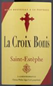 飞龙世家伯尼红葡萄酒(La Croix Bonis, Saint-Estephe, France)