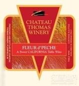 托马斯芙蓉佩谢甜白葡萄酒(Chateau Thomas Winery Fleur d'Peche, California, USA)