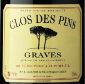 拉福勒品斯园干红葡萄酒(Clos des Pins Rouge, Graves, France)