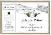 普朗酒庄温勒内日晷园雷司令精选白葡萄酒(Joh. Jos. Prum Wehlener Sonnenuhr Riesling Auslese, Mosel, Germany)