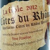 布诺特南隆河非欧勒干红葡萄酒(Brotte Chateauneuf du Pape la Fiole,Rhone,France)