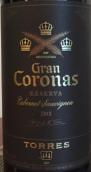 桃乐丝特级王冠珍藏赤霞珠干红葡萄酒(Torres Gran Coronas Reserva Cabernet Sauvignon, Penedes, Spain)