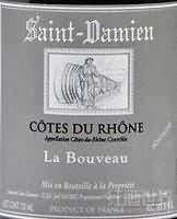 Domaine Saint Damien Cotes du Rhone La Bouveau,Rhone,France